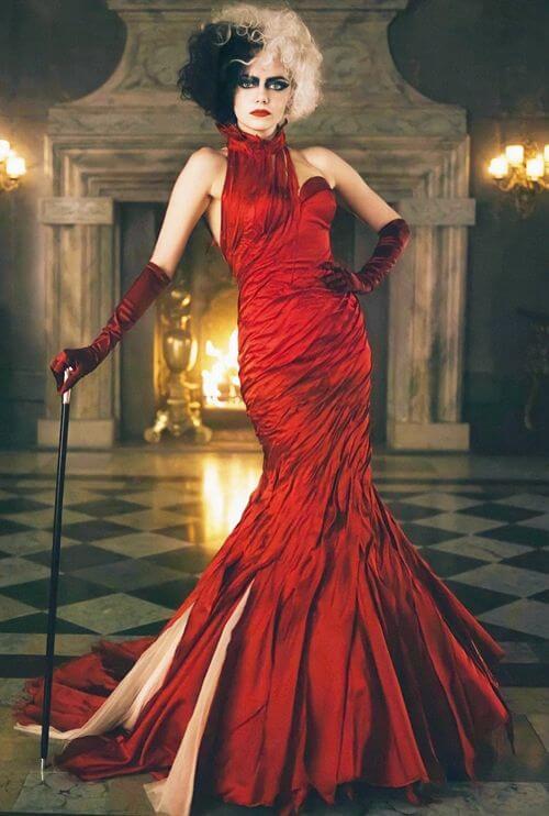 Emma Stone's Cruella Devill Inspired Halloween Costume