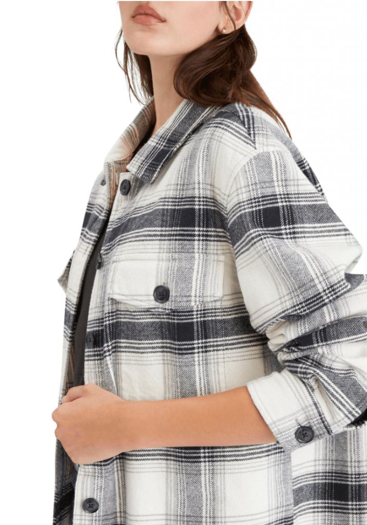 40+ Stylish Work From Home Outfit Ideas So You Always Look Cool, like this Plaided Shacket like this BDG Presley Longline Cardigan