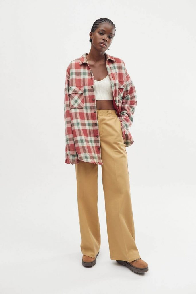 40+ Stylish Work From Home Outfi like this Urban Renewal Recycled Quilted Flannel Shirt Jackett Ideas So You Always Look Cool