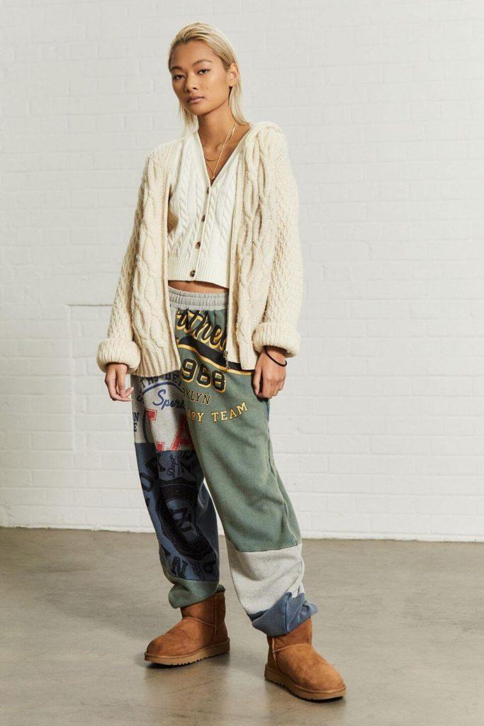 UO Cable Knit Sleeveless Cardigan